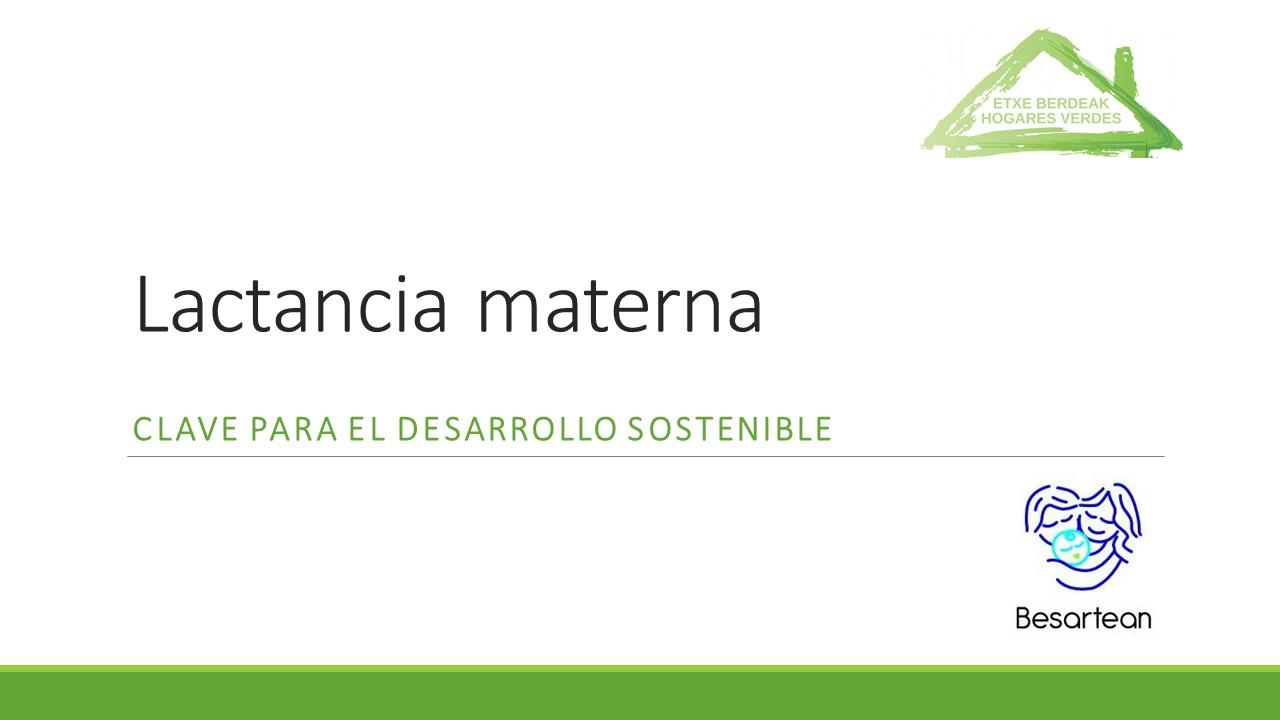 Lactancia materna - clave para el desarrollo sostenible