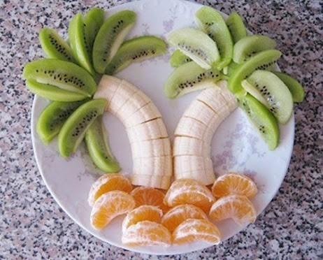 plato fruta divertido