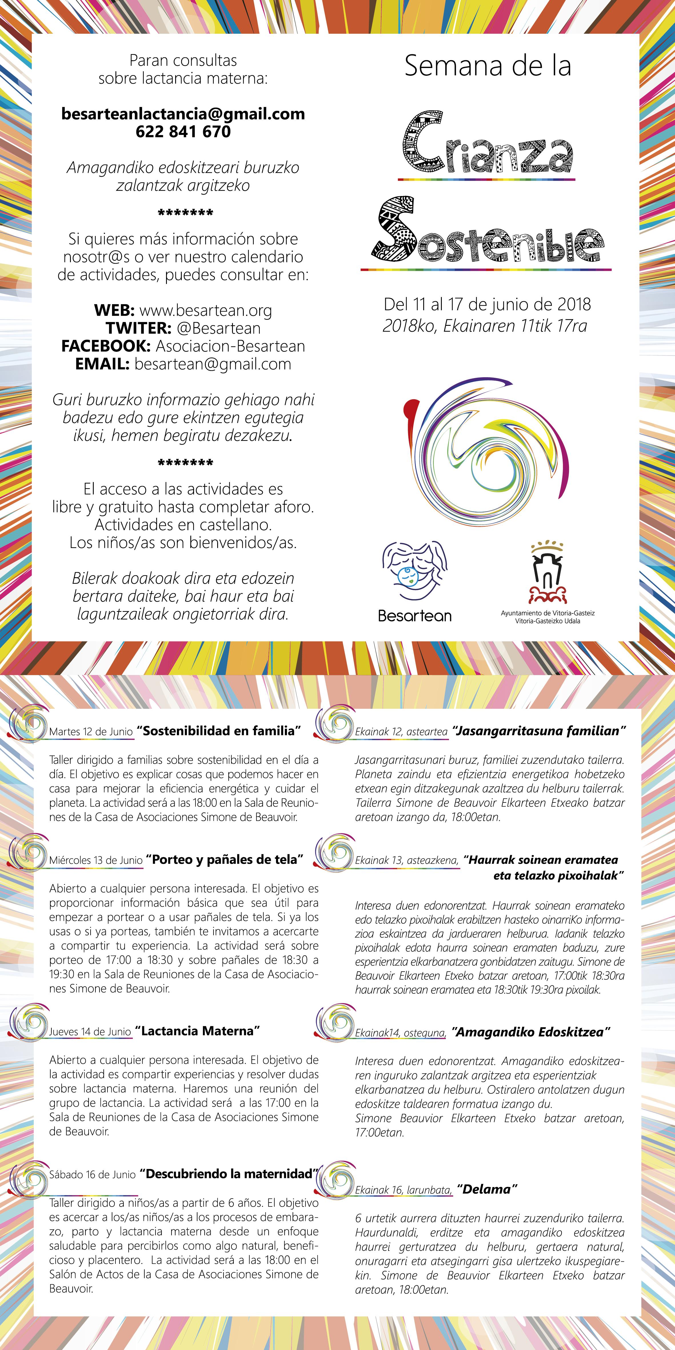 Semana crianza sostenible 2018 difusion